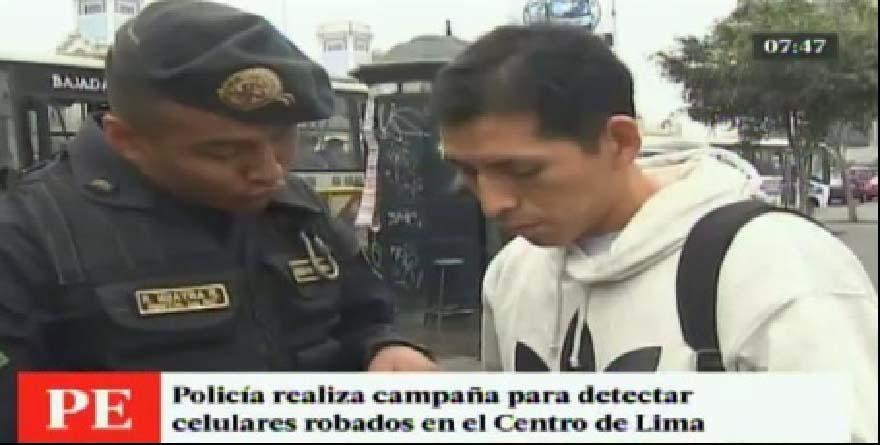 Celulares robados: Transeúntes son intervenidos por  la policía