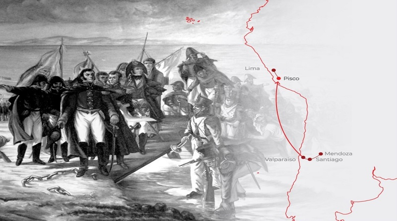 Así fue el Día del desembarco del General San Martín en Paracas hace 200 años [VIDEO]