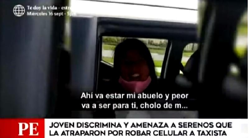 Discrimina a serenos que la detuvieron por robar celular a taxista