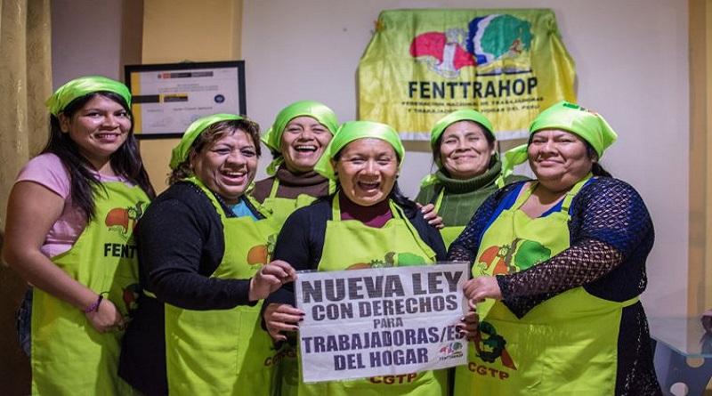 Trabajadoras del hogar piden a Vizcarra promulgar ley por sus derechos laborales [VIDEO]