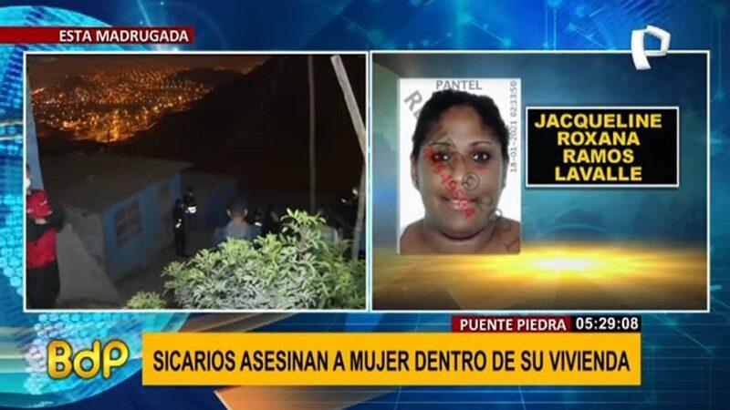 Asesinan a mujer dentro de su casa en Puente Piedra