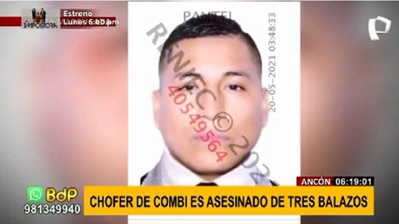 Ancón: Asesinan a conductor de combi informal de tres balazos