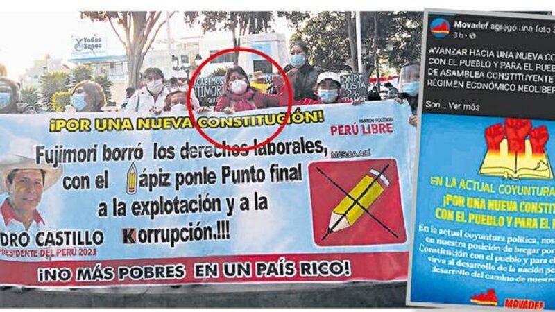 Movadef promueve campaña en contra de la candidatura de Keiko Fujimori