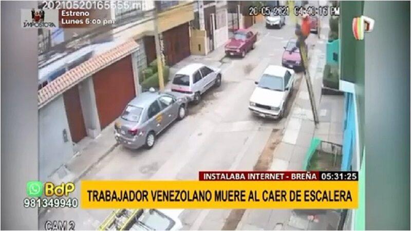 Breña: Técnico murió al resbalarse de escalera cuando realizaba instalación de internet