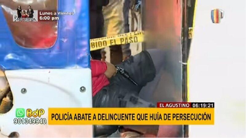 El Agustino: Mototaxista armado es abatido tras huir de intervención policial