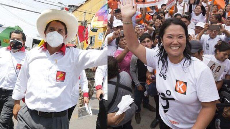 Onpe: Keiko Fujimori y Pedro Castillo recibirán de la ONPE 12 millones de soles para sus campañas políticas