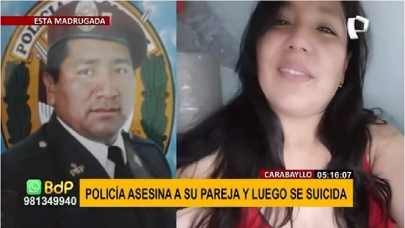 Carabayllo: Agente PNP asesina a su esposa embarazada a disparos y luego se suicida