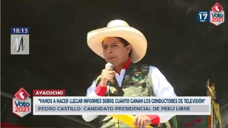 Pedro Castillo: Revelará la cantidad de dinero que ganan los periodistas de televisión