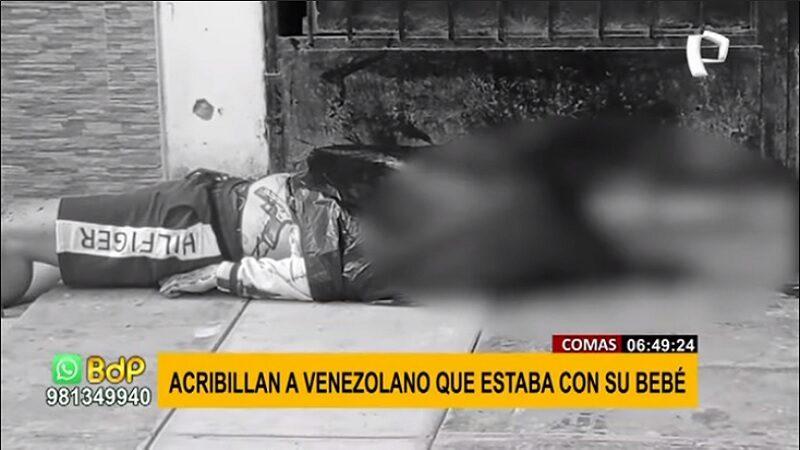 Comas: Venezolano es asesinado a balazos por sicarios en moto lineal
