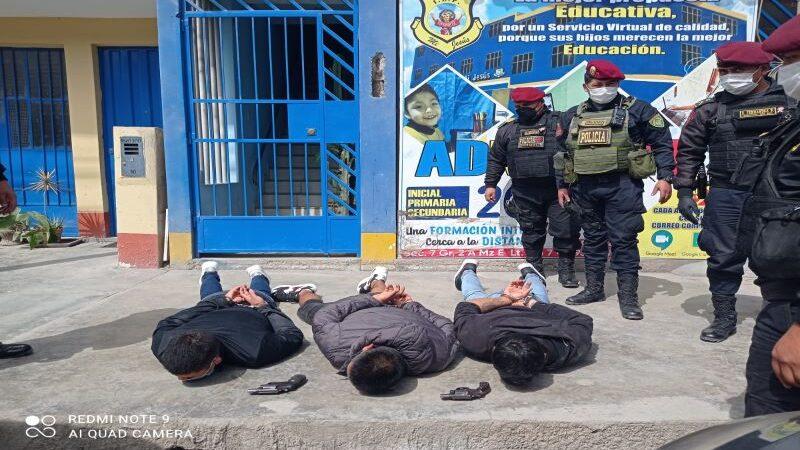 Policía detiene a presuntos  marcas tras persecución