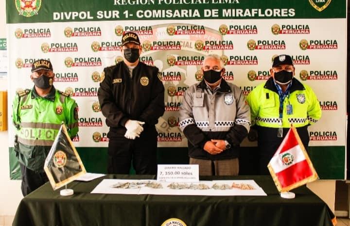 No aparece dueño de los S/7,350 que serenos encontraron en Miraflores