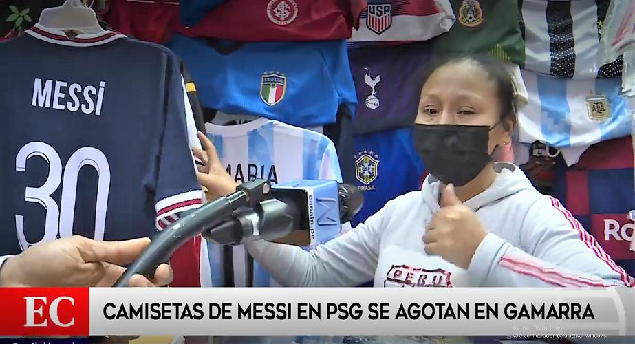 ¡Gracias, Messi! Comerciantes de Gamarra elevan sus ventas con el '30'