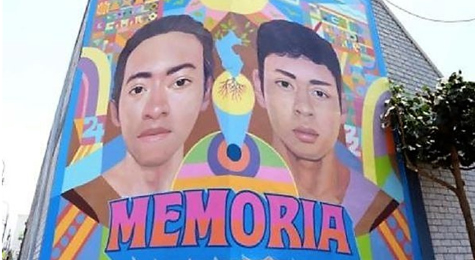 Magdalena del Mar: Pintan mural en homenaje a jóvenes Byran e Inti
