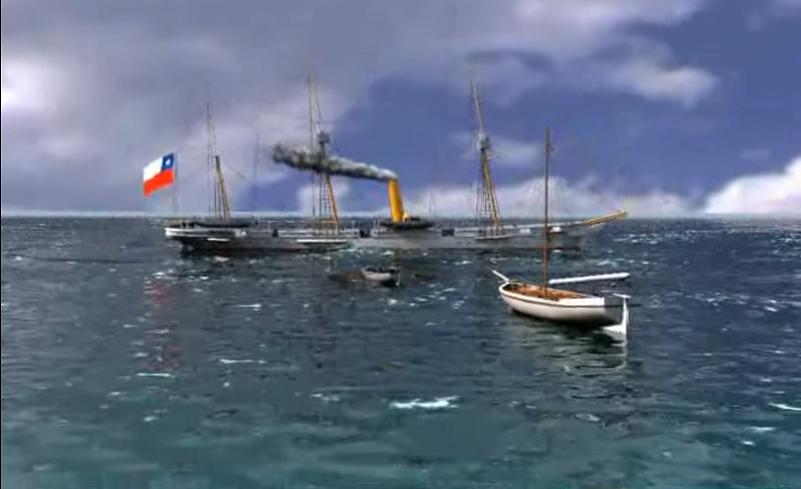 Ministro Gálvez plantea recuperar nave chilena de la Guerra de Pacífico