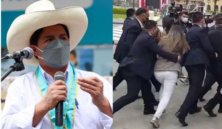 """Pedro Castillo ofreció «las disculpas del caso"""" sobre agresión a periodista"""
