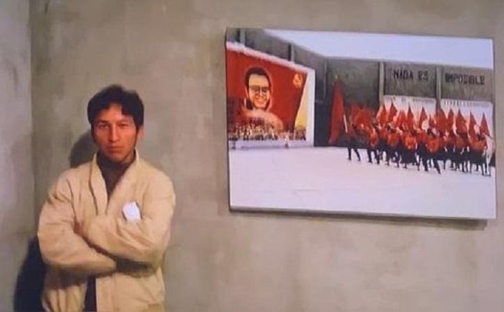 Bellido explica su foto con la imagen de Abimael: «ahí yo era estudiante»