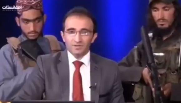 Afganistán: presentador de televisión fue rodeado por talibanes armados