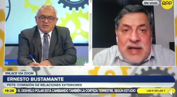 Congresista Bustamante: «cobré S/ 15 MIL para instalar mi oficina virtual»