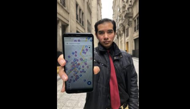 Peruano crea app de celular que podría evitar robos en la calle.