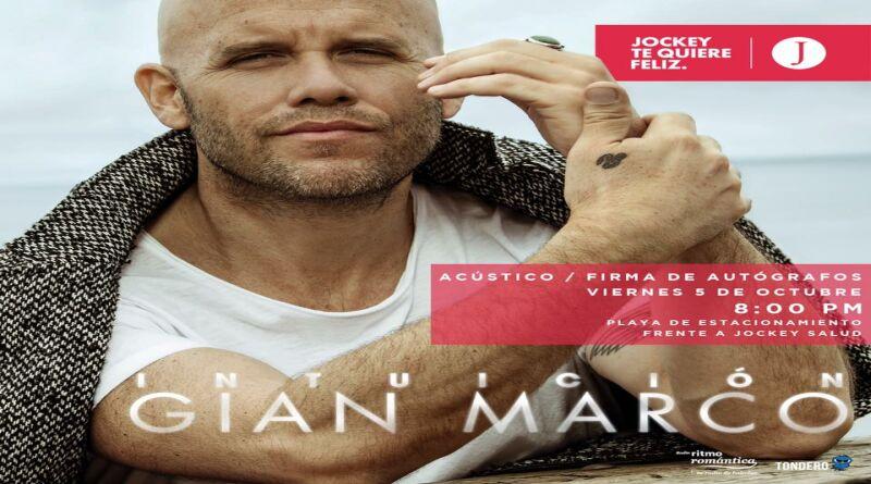 Gian Marco  ofrecerá concierto gratuito en el Jockey Plaza