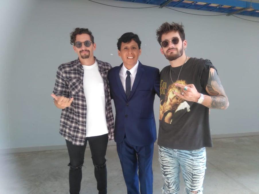 Hugo Apaza tuvo emotivo encuentro con hijos de Ricardo Montaner