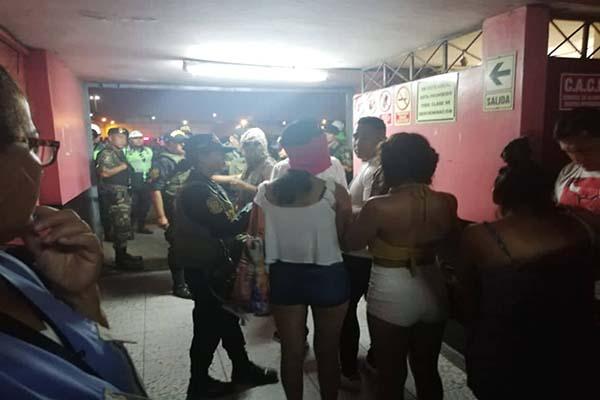 Autoridad edil también intervino los locales El trocadero y La salvaje, ambos ubicados en la Av. Argentina en el Callao