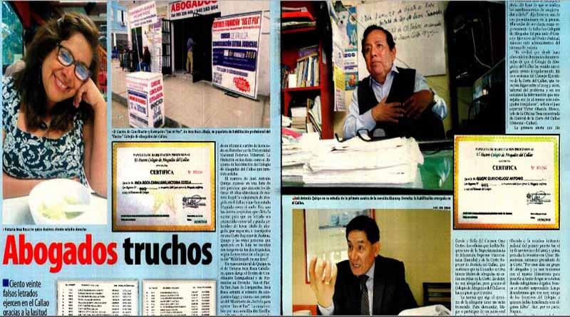 Detectan que falsos abogados fueron colegiados en el Callao