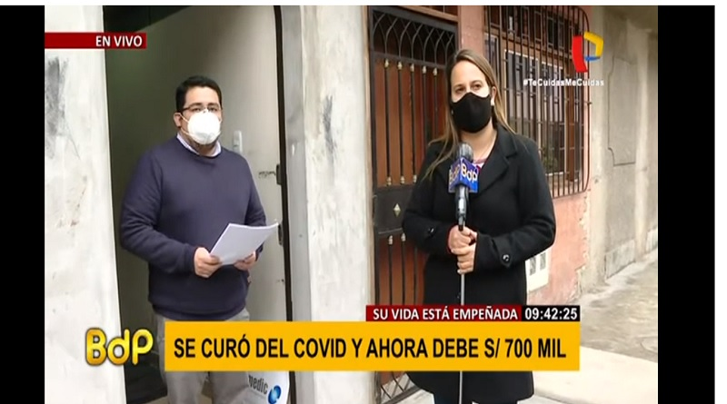 Covid-19: se curó del virus pero debe S/700 mil a clínica [VIDEO]