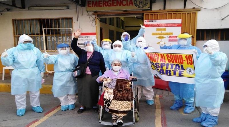 Mujer de 101 años venció al coronavirus en el hospital de Vitarte