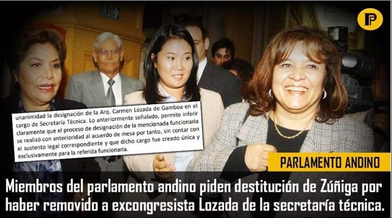Fujimorismo disputa por sueldazo de excongresista en el Parlamento Andino