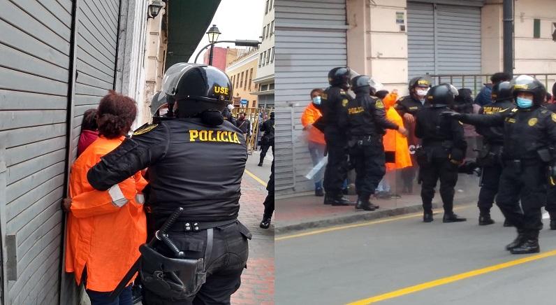 PNP detiene a 20 trabajadoras de limpieza en el Centro de Lima [VIDEO]