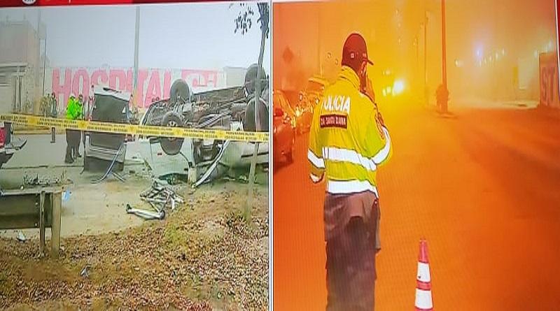 Dos fallecidos tras accidente de tránsito en Santa Clara