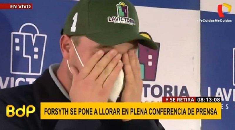 Alcalde George Forsyth rompe en llanto en plena conferencia de prensa [VIDEO]