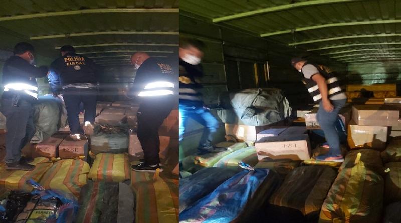 Policía Nacional da duro golpe al contrabando de cigarrillos y juguetes