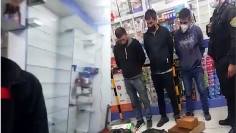 SMP: Asaltantes roban farmacia llevándose 35 mil soles y medicinas