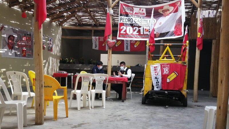 San Juan de Miraflores: Roban objetos valorizados en 1800 soles del local de campaña de Perú Libre