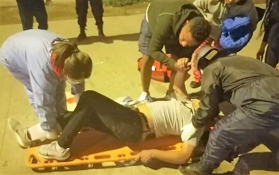 VES: asaltan y le rompen la pierna a suboficial de la Policía Nacional
