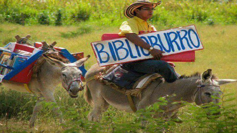 Colombia: profe de escuela recorre poblados con su «biblio-burro» [VIDEO]