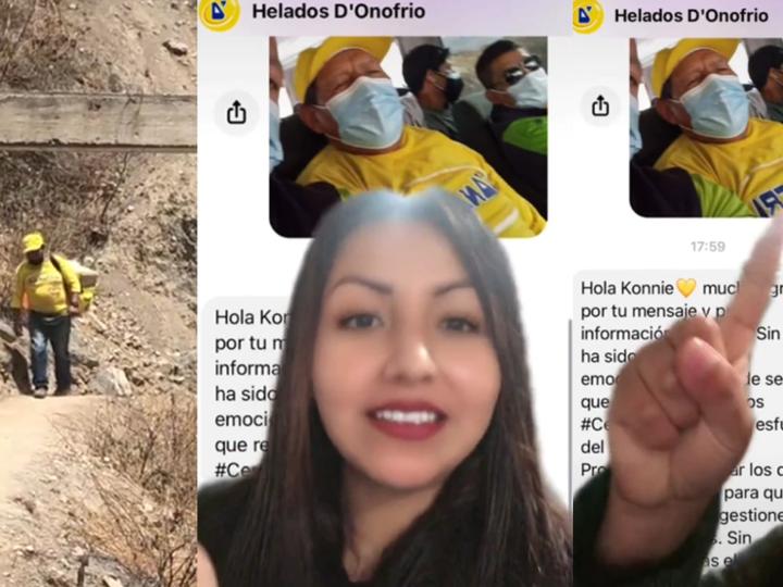 D'Onofrio busca al heladero de las alturas protagonista de video viral